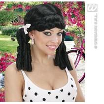 Pruik Lolita zwart