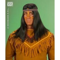 Pruik Indiaan met hoofdband