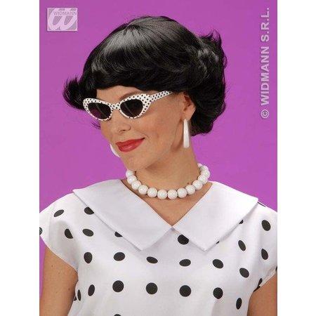 Pruik Audrey zwart