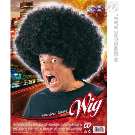 Pruik Afro Jimmy zwart oversized