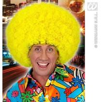 Pruik Afro Jimmy neon geel oversized