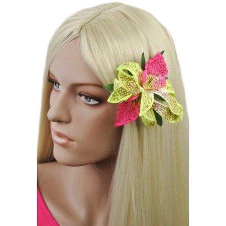Haarbloem Orchidee Groen Roze