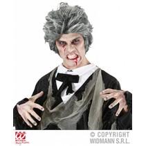 Zombie pruik grijs