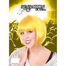 Pruik Sensation Bobline geel
