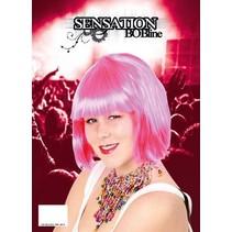 Pruik sensation bobline pink