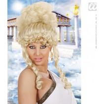 Pruik olympische Godin blond