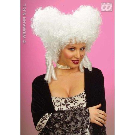 Pruik Barok vrouw wit