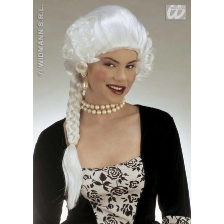 Pruik Hertogin Josephine wit