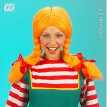 Heidi pruik oranje