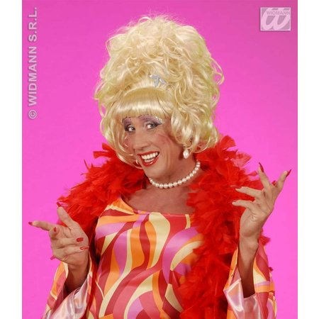 Pruik drag queen blond