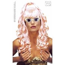 Pruik Kelly roze