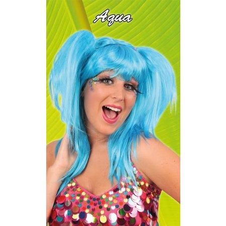 Pruik Aqua