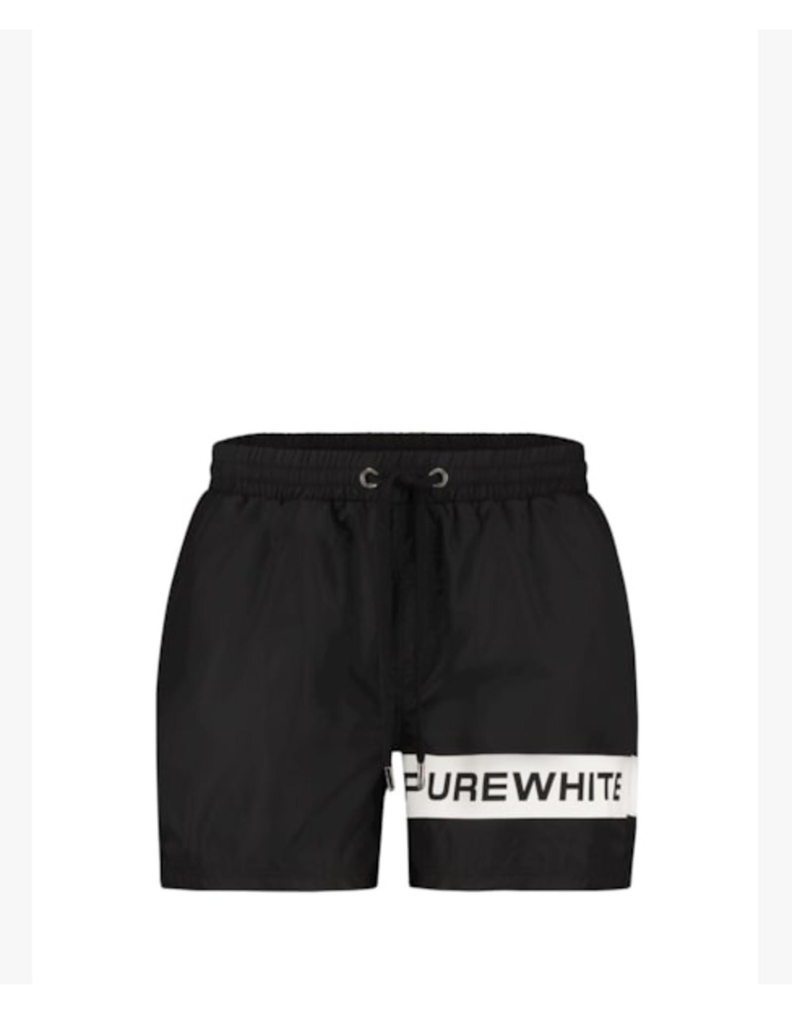 Purewhite Logo Swimshort
