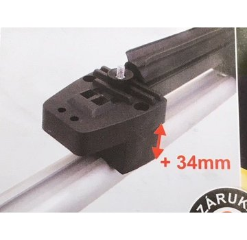 Hakr Ski-Erhöhung für Dachträger (Aluminiumträger)