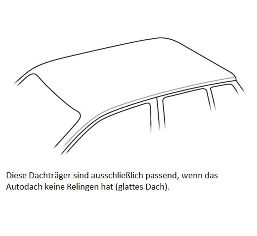 Dachträger Volkswagen Up 3-türig Fließheck ab 2011 mit normalem, bündigen Dach | FARAD