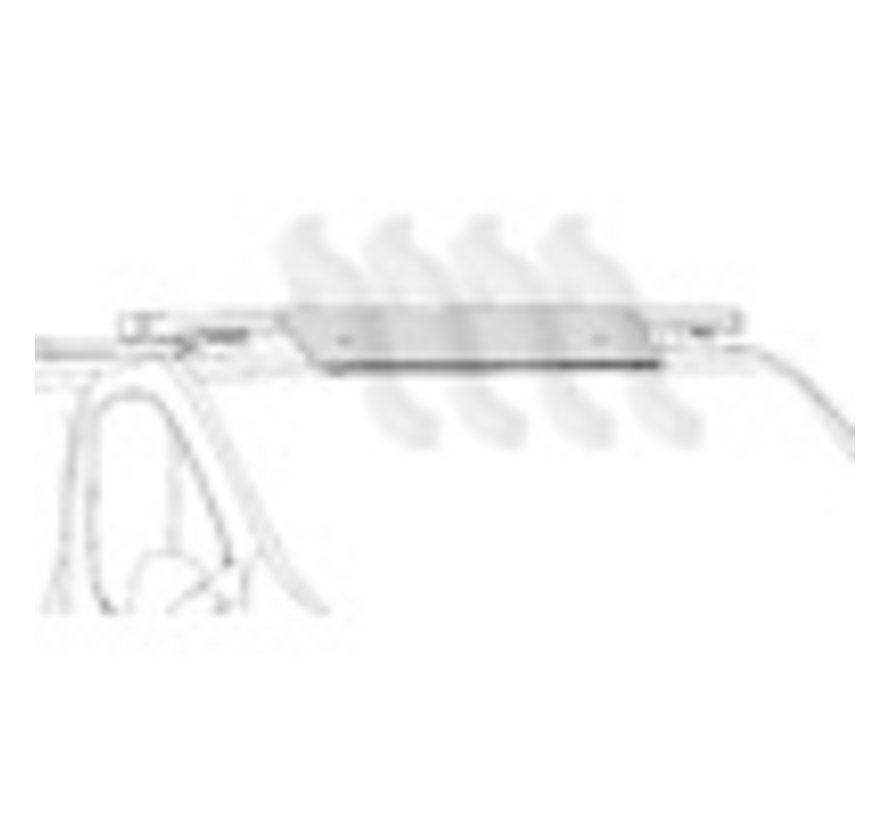 Windabweiser-Kit für Nordrive Aluminium Dachträger (Länge 110 cm )