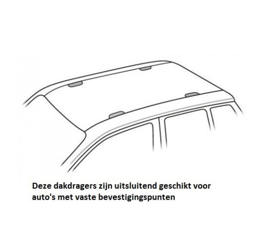 Dachträger Peugeot 407 4-türig Limousine 2004 - 2012 | Menabo Tema
