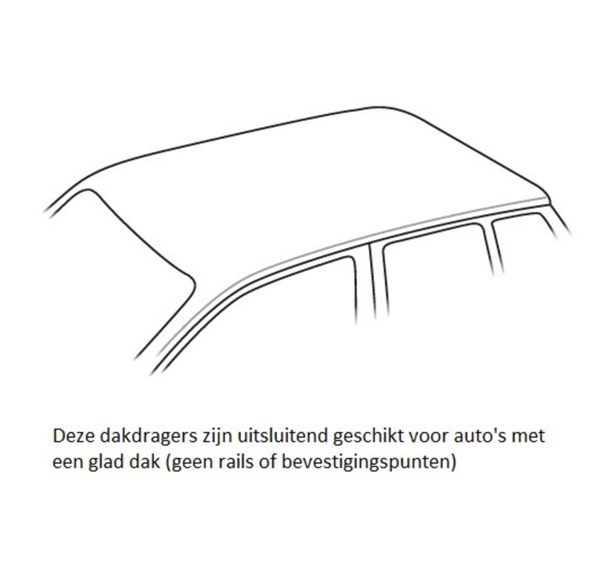 Dachträger Volkswagen Up! 3-türig Fließheck ab 2011   Menabo Tema