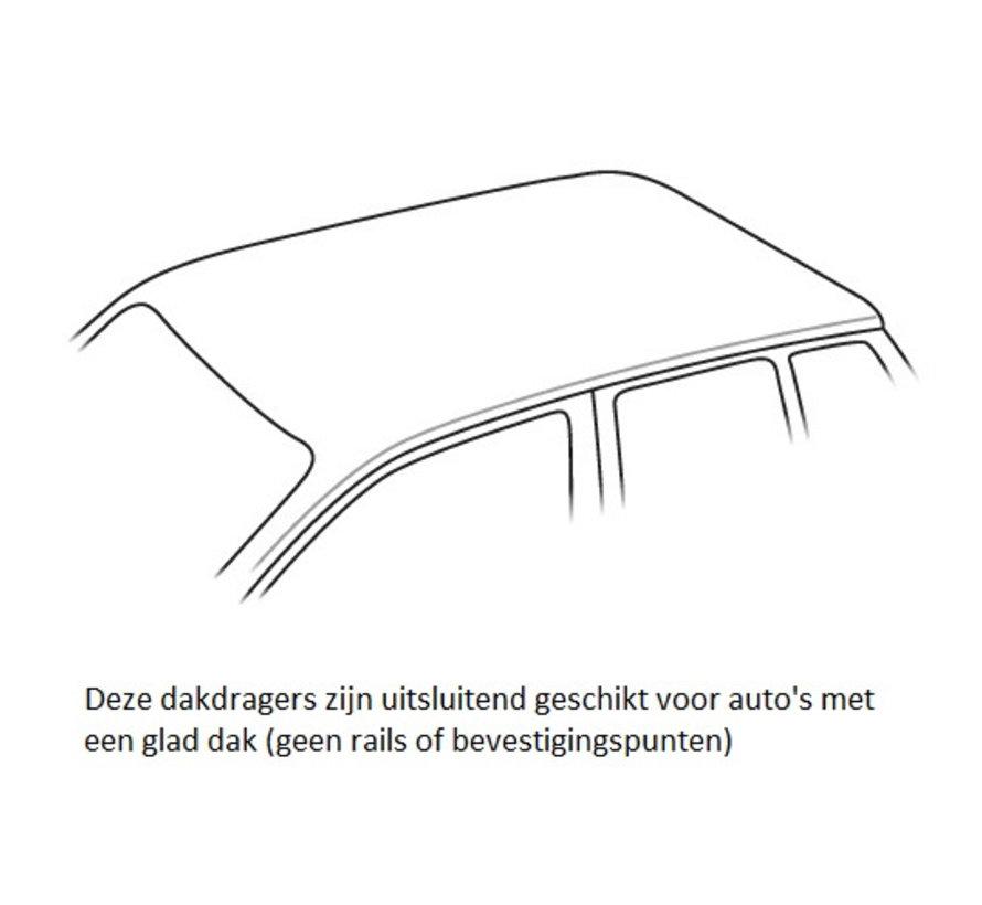 Dachträger Volkswagen Jetta (A6/5C6) 4-türig Limousine 2011 - 2018   Menabo Tema