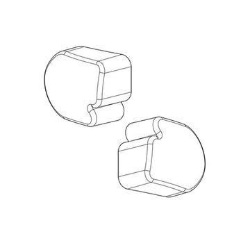 Nordrive Zubehör 2 x Abschlusskappe Nordrive  für Aluminium  Träger