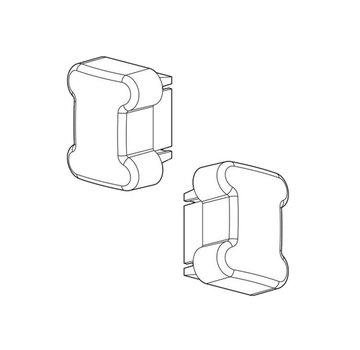 Nordrive Zubehör 2 x Abschlusskappe Nordrive  für Stahl Träger