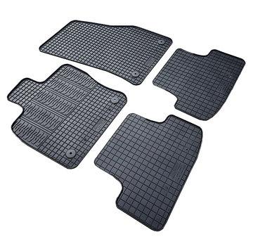 Cikcar Gummi Fußraummatten Passform-Gummimatten für Citröen Jumpy II (Rückbank 2. Reihe) 2006 - 2015
