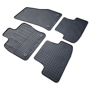 Cikcar Gummi Fußraummatten Passform-Gummimatten für Peugeot Partner 2 P. (mit ovalen Befestigungspunkten) ab 2018