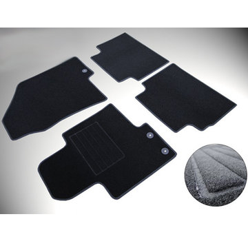 Cikcar Fußraummatten Passform-Fußraummatten-Set für Renault Twingo ab 2007