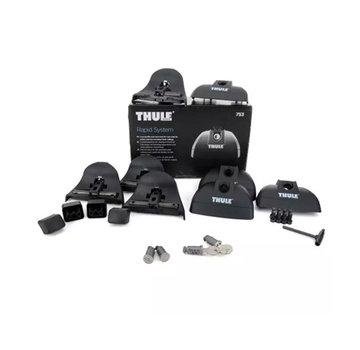 Thule Ersatzteile Thule Rapid System 753 - Fußset für Thule Dachträger | Geeignet für Fixpunktbefestigung und aufliegende Dachreling