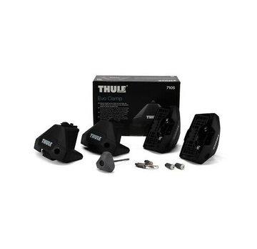 Thule Ersatzteile Thule Evo Clamp 7105 - Fußset für Thule Dachträger | Geeignet für das normale, bündige Dach