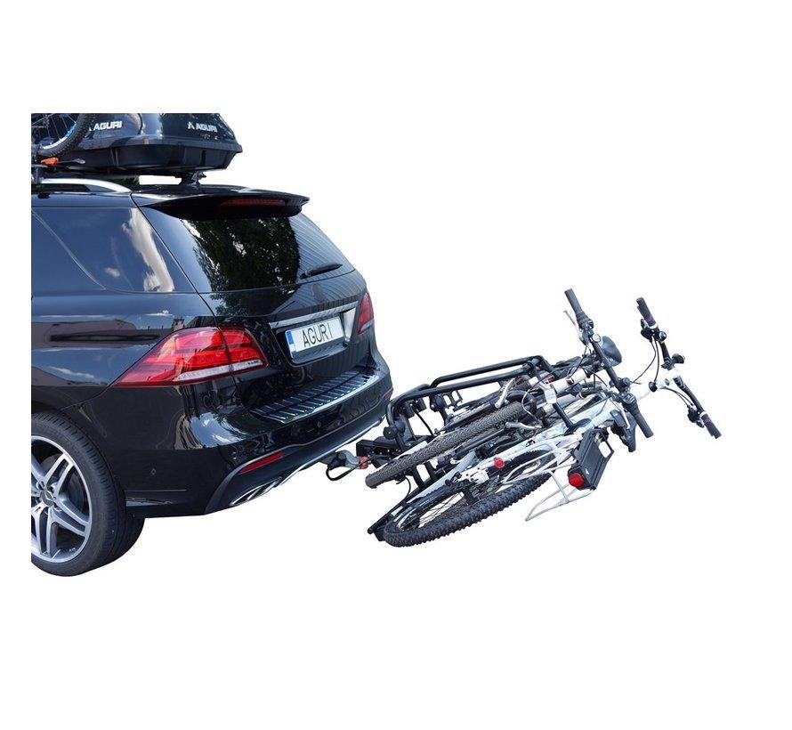 AGURI Activebike E-Bike 2 schwarz   Heckfahrradträger für 2 Fahrräder