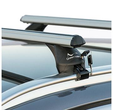 Green Valley Dachträger Dachträger Volvo V40 Cross Country SUV ab 2012 | Mit werkseitig aufliegender Dachreling