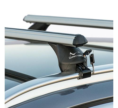 Green Valley Dachträger Dachträger Volvo V90 Kombi ab 2016 | Mit werkseitig aufliegender Dachreling