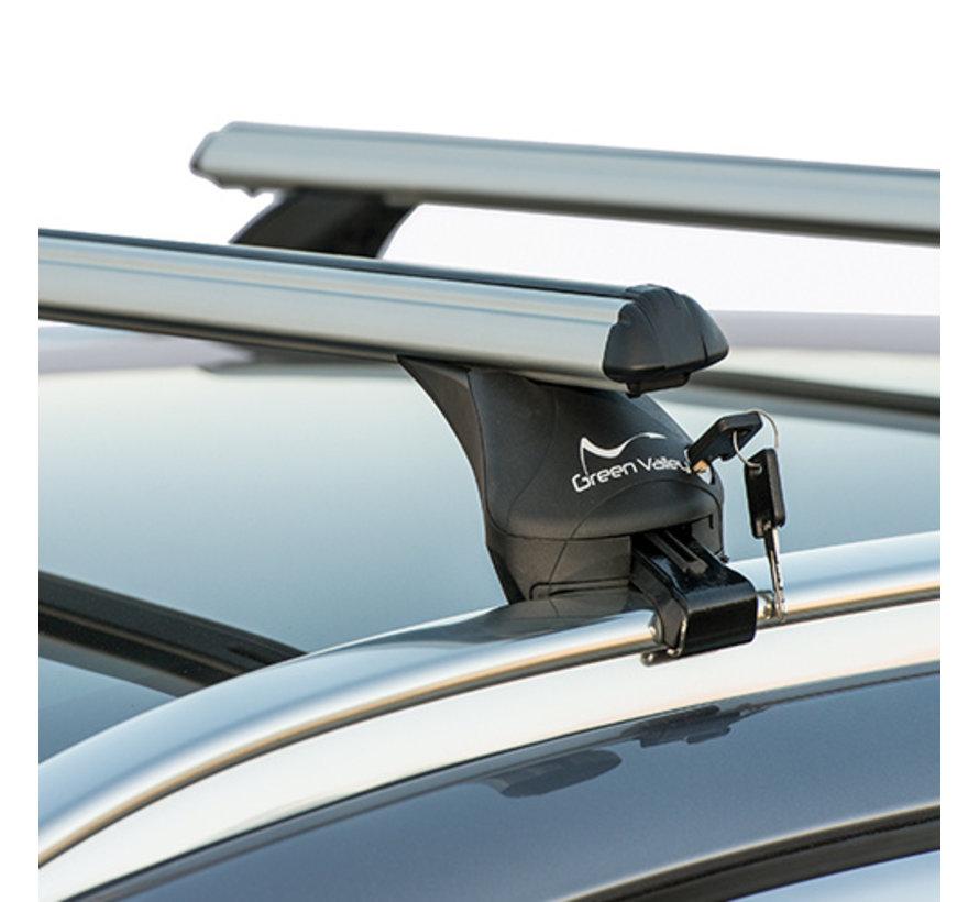 Dachträger Volvo V90 Kombi ab 2016 | Mit werkseitig aufliegender Dachreling