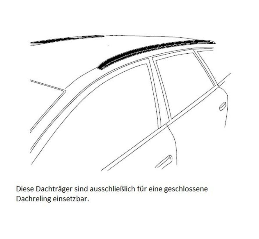 Dachträger Volvo XC90 SUV ab 2015   Mit werkseitig aufliegender Dachreling