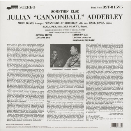 Cannonball Adderley, Miles Davis, Hank Jones, Sam Jones, Art Blakey | Somethin' Else