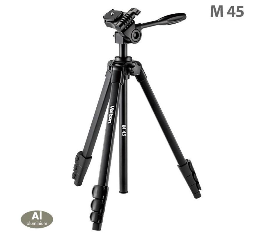 Velbon M45 Tripod with 3-way Head (max. 1, 56 meter)