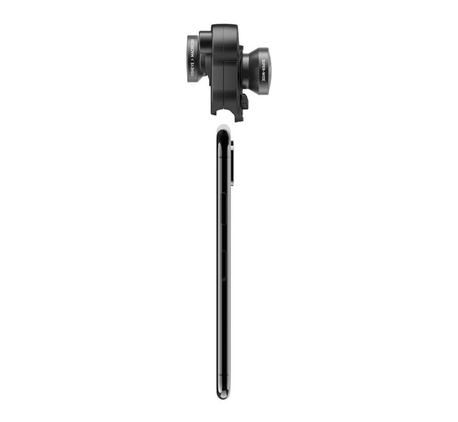 olloclip mobile photography set voor iPhone X (fisheye, groothoek, macro)