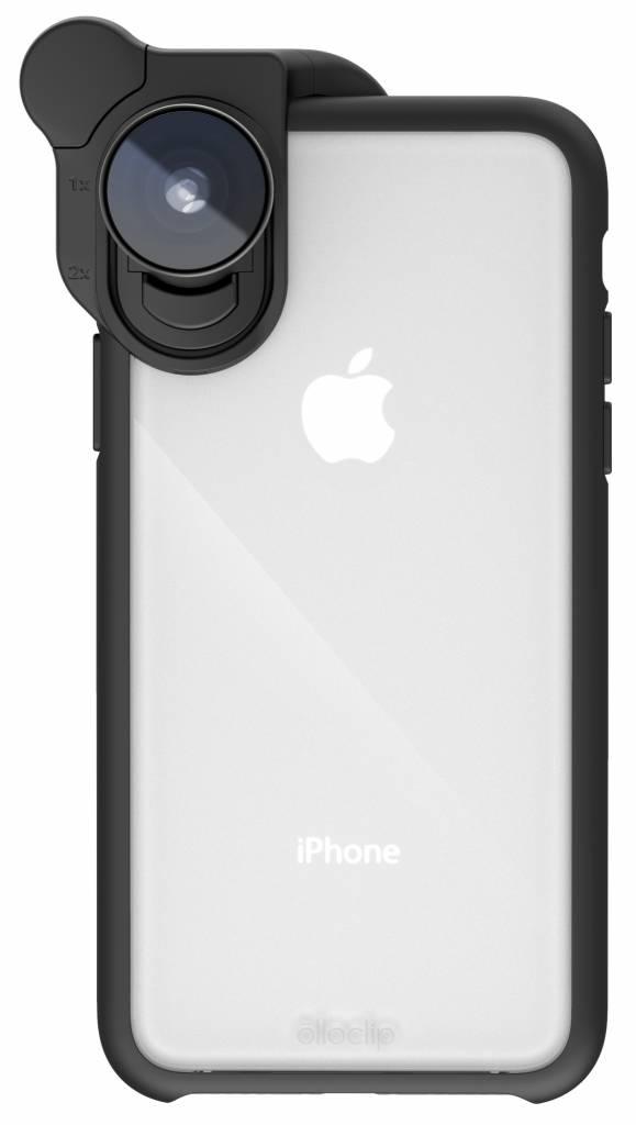 olloclip Case voor iPhone X - Clear/Black