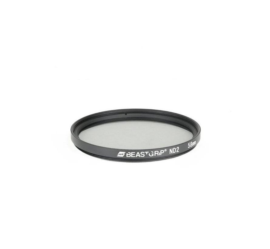 Beastgrip ND2 grijsfilter 58mm