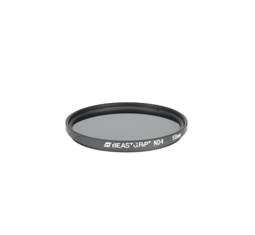 Beastgrip ND4 grijsfilter 58mm