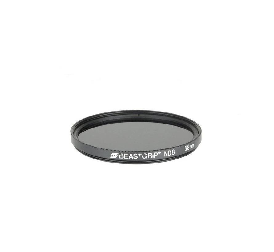 Beastgrip ND8 grijsfilter 58mm