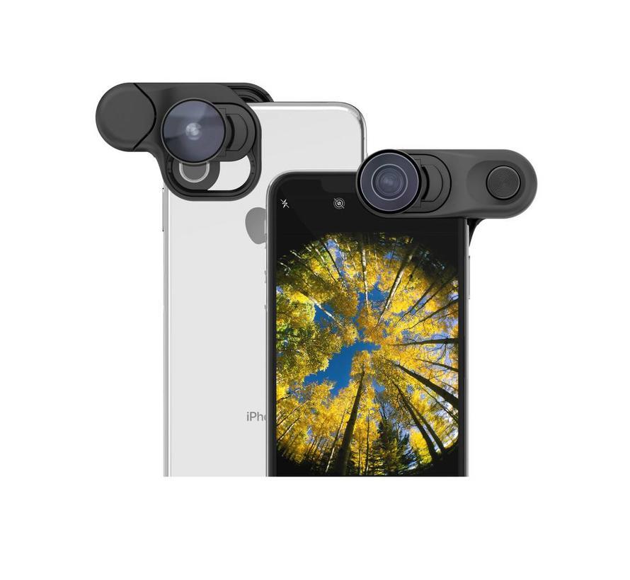 olloclip voor iPhone XS MAX Clip + Fisheye + Super Wide + Macro lens set iPhone XS MAX