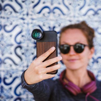 Black eye Photo case voor iPhones