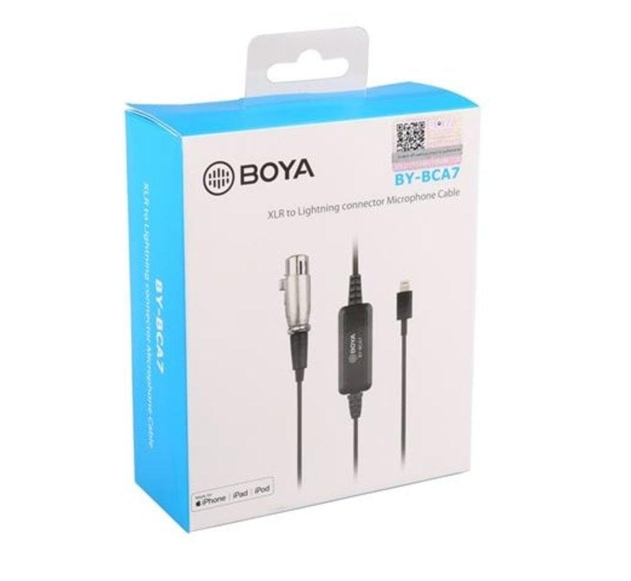 Boya XLR naar Lightning Adapter BY-BCA7
