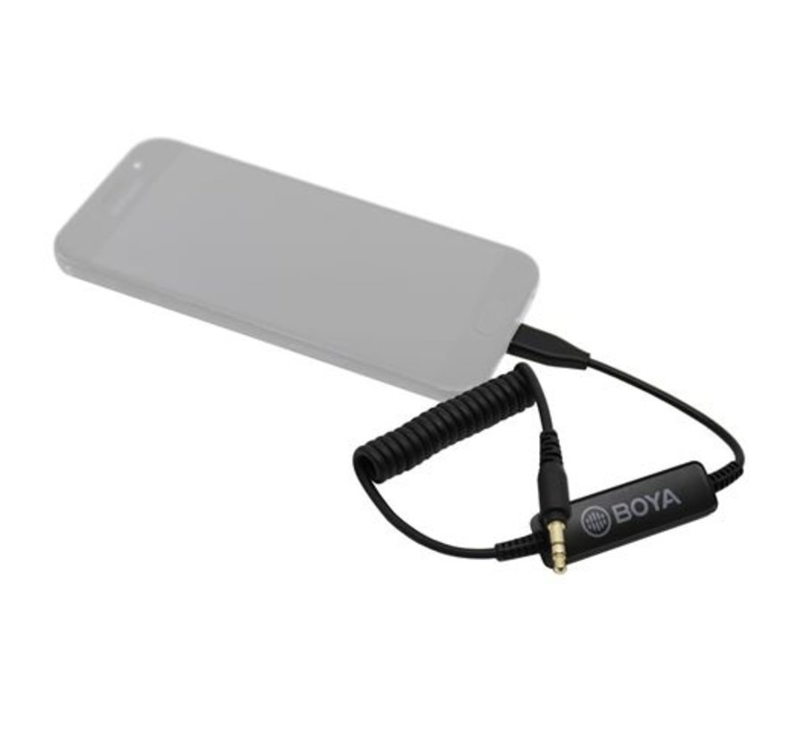 Boya TRS naar USB-C Adapter 35C-USB-C