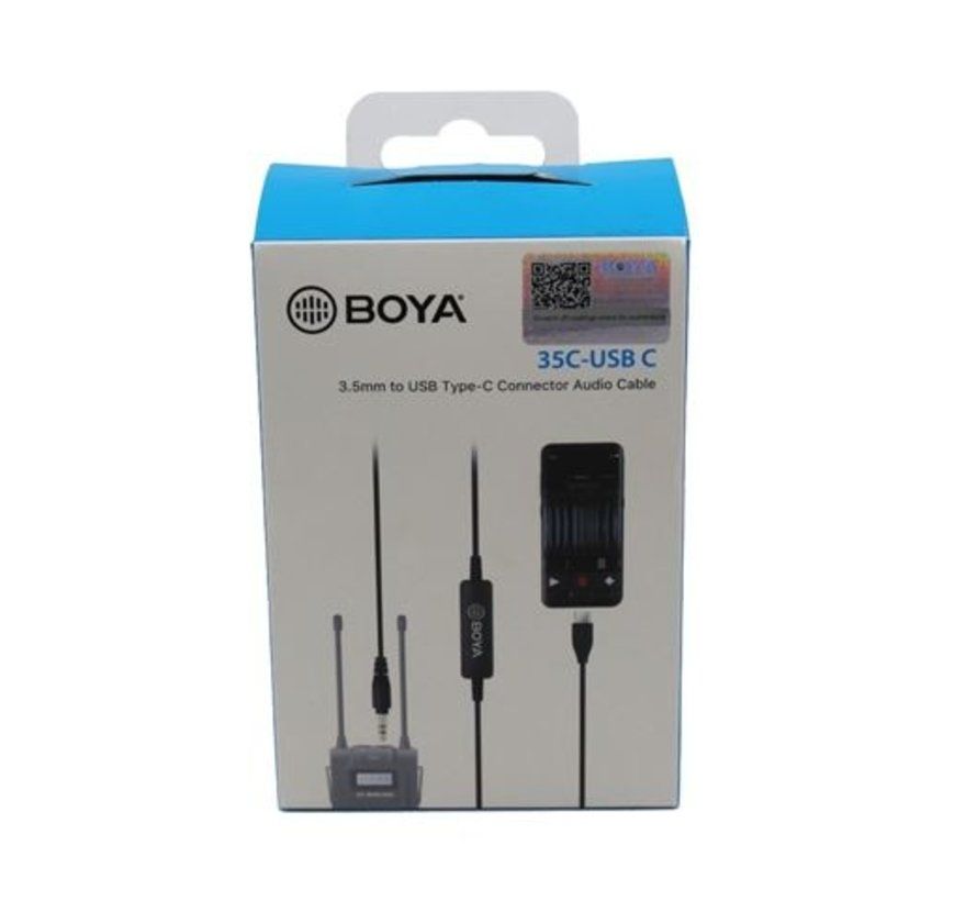 Boya TRS to USB-C Adapter 35C-USB-C