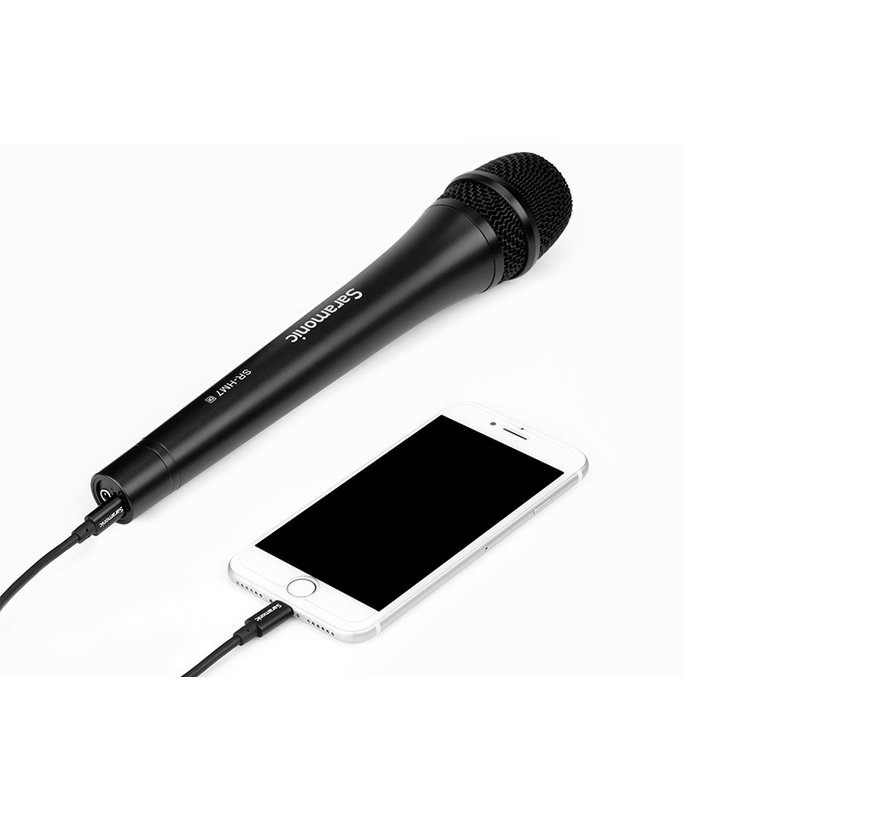 Saramonic SR-HM7 DI, professional dynamic vocal handheld microphone with Lightning connector