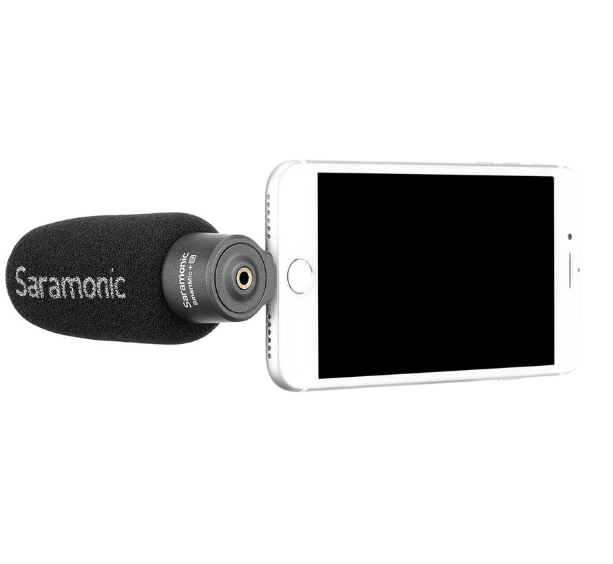Saramonic SmartMic+ DI, compact directional microphone for iOS devices with Lightning connector, incl. foam windshield