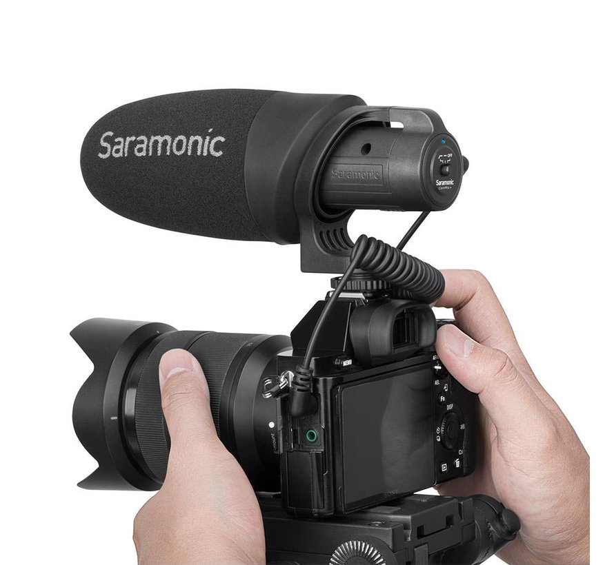 Saramonic CamMic+, camera-mount condenser microphone